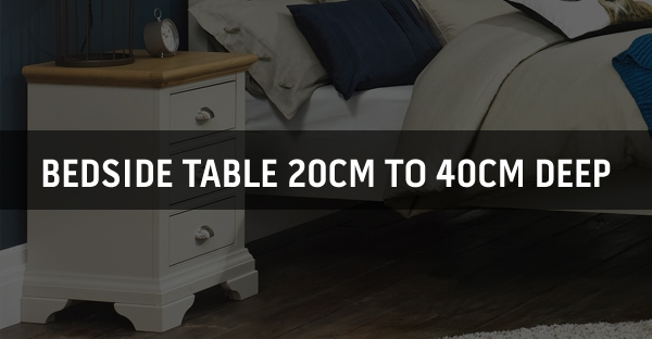 Bedside Table 20cm to 40cm Deep