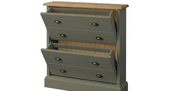 2 Drawer Shoe Cabinet