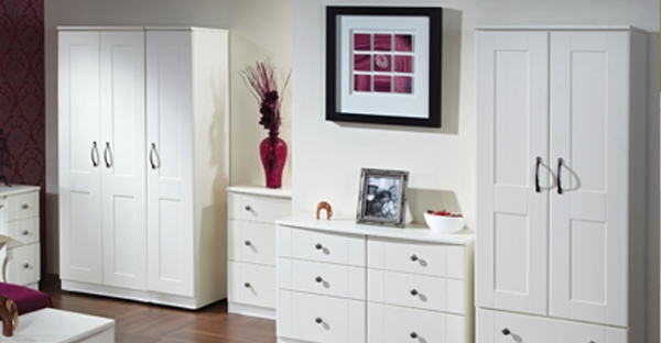 Ready Assembled White Bedroom Furniture Fully Assembled White Gloss