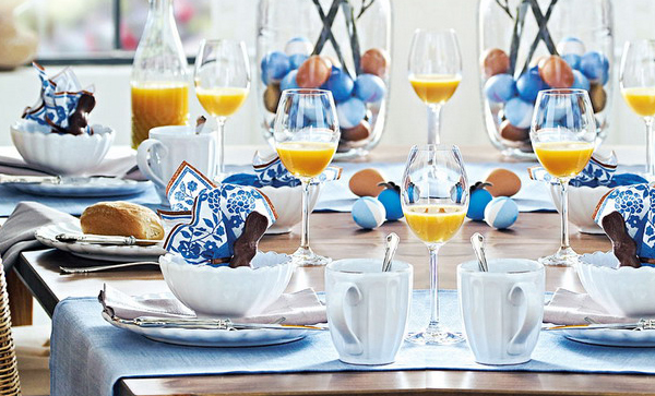 Easter Dning Table Decor