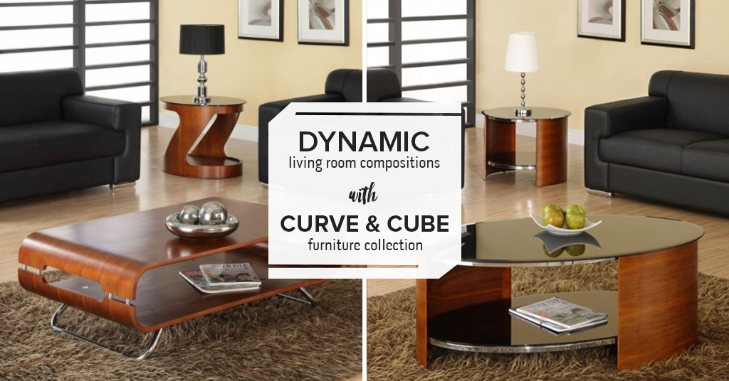 Dynamic living room compositions with Curve & Cube furniture collection
