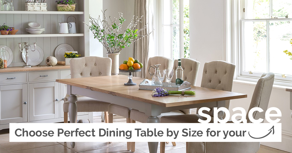 Choose Perfect Dining Table by Size For Your Space