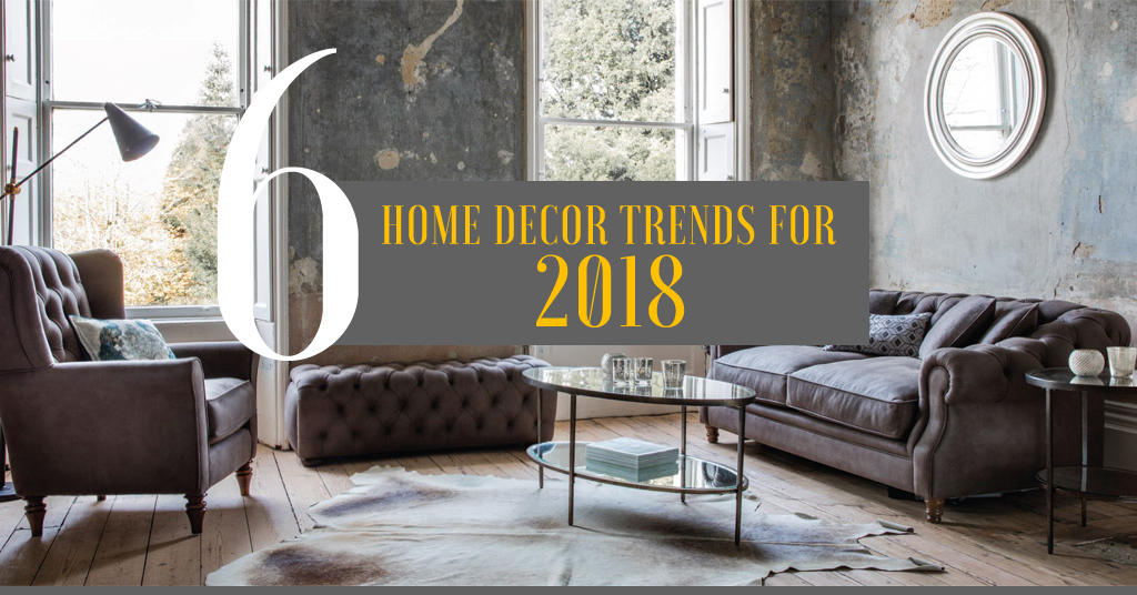 6 home decor trends for 2018 for Home decorating company bedding