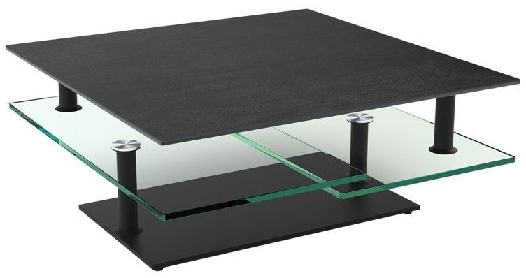 Titanium Ceramic Top Multi Level Swivel Coffee Table