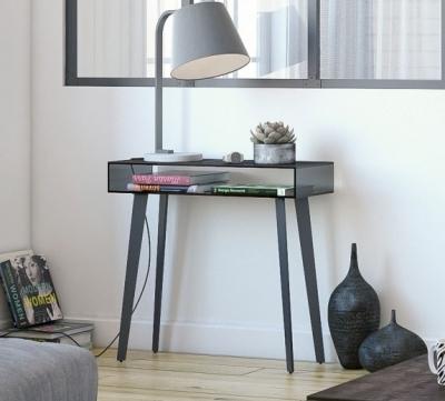 Boston Black Ceramic Console Table