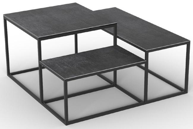 Brasilia Titanium Ceramic Top Multi Level Coffee Table