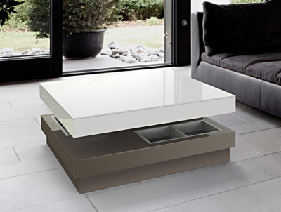 Celia White and Taupe Coffee Table