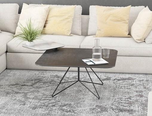 Comete Marble Effect and Titanium Ceramic Coffee Table