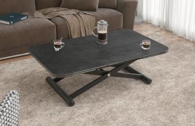Enora Titanium Ceramic and Black Extending Coffee Table