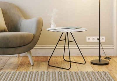 Iris Marble Effect Ceramic Top Side Table