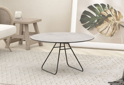 Iris Silver Ceramic Top Coffee Table