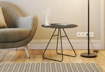 Iris Steel Ceramic Top Side Table
