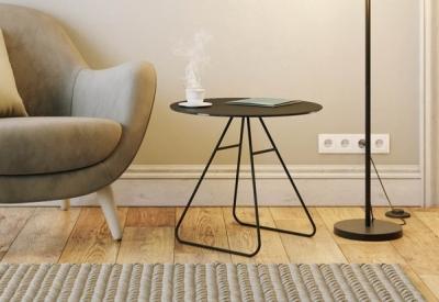 Iris Titanium Ceramic Top Side Table