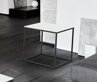 Julia White Ceramic and Black Side Table