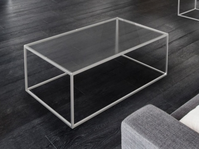 Julia Clear Glass and Chrome Coffee Table