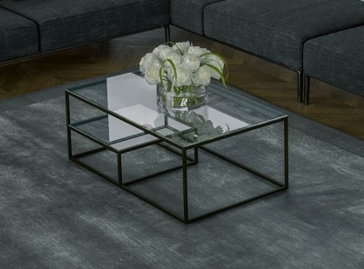 Julia Etagere Clear Glass Coffee Table