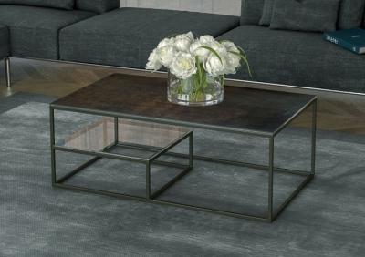 Julia Etagere Steel Ceramic Top Coffee Table