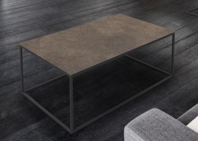 Julia Natural Ceramic and Black Coffee Table