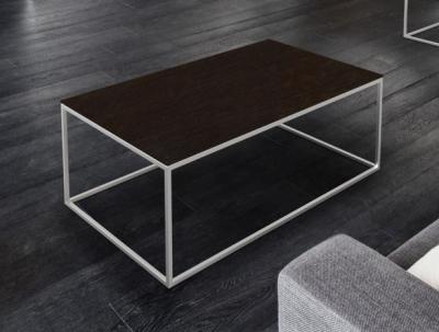 Julia Steel Ceramic and Chrome Coffee Table