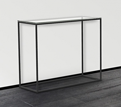 Julia Clear Glass and Black Console Table