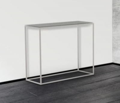 Julia Clear Glass and Chrome Console Table
