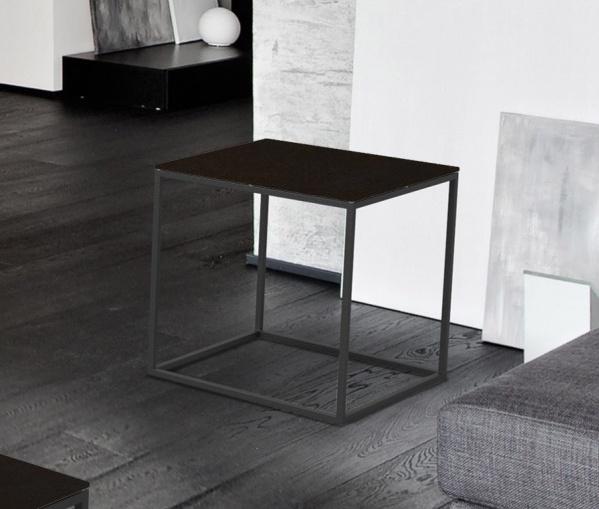 Julia Steel Ceramic and Black Side Table