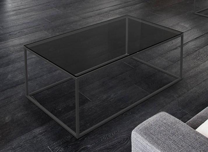 Julia Grey Glass and Black Coffee Table