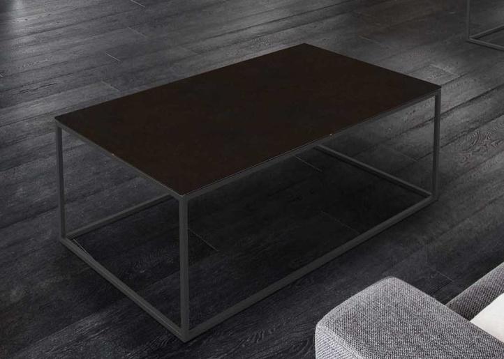 Julia Steel Ceramic and Black Coffee Table