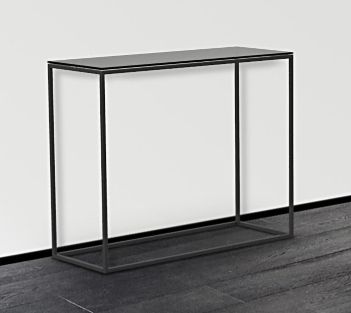 Julia Grey Glass and Black Console Table