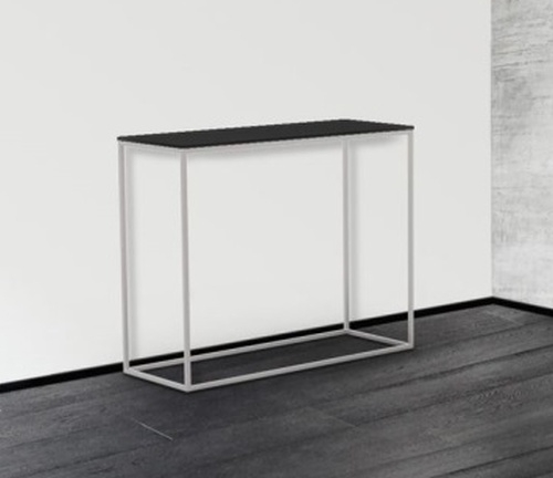 Julia Grey Glass and Chrome Console Table