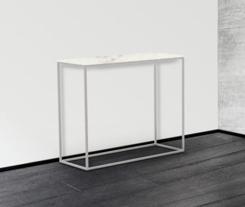 Julia Marble Effect Ceramic and Chrome Console Table