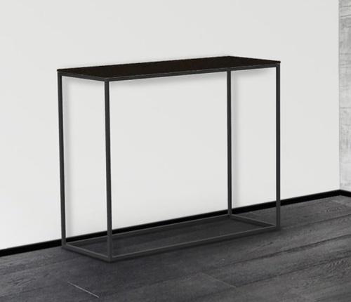 Julia Steel Ceramic and Black Console Table