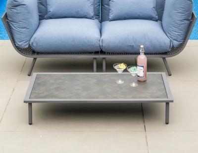 Alexander Rose Beach Lounge Flint Coffee Table with Aluminium Pebble Top