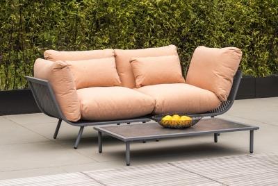 Alexander Rose Beach Lounge Flint Corner Module with Cushion