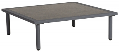 Alexander Rose Beach Lounge Flint Side Table with Aluminium Pebble Top