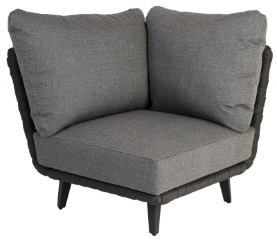 Alexander Rose Cordial Luxe Dark Grey Corner Module with Cushion