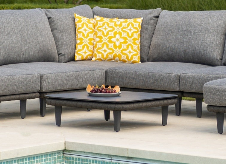 Alexander Rose Cordial Luxe Dark Grey Coffee Table with HPL Top