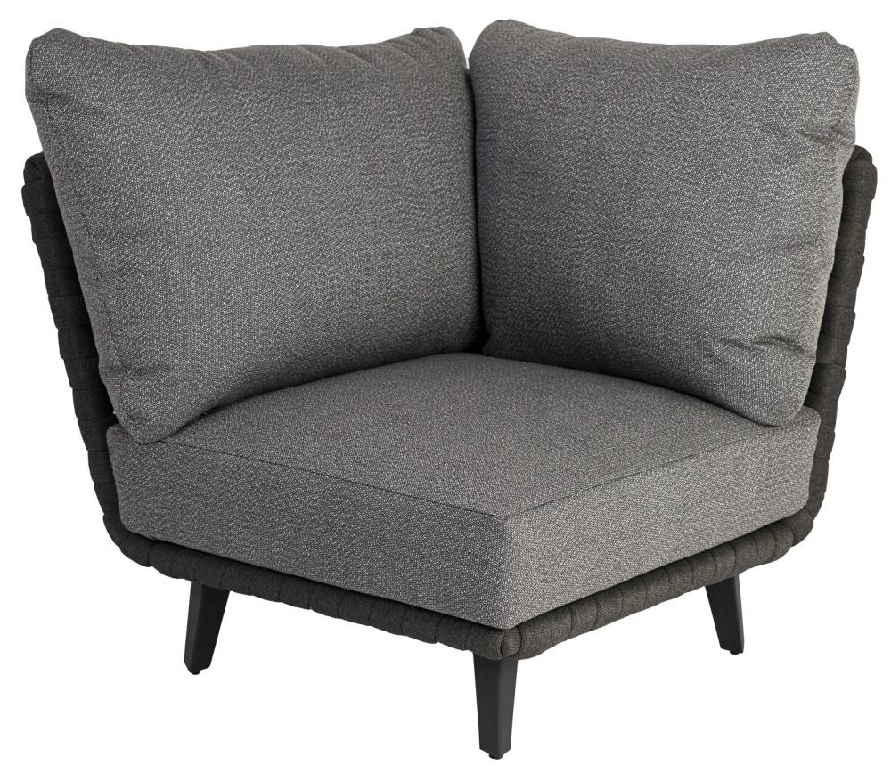 Alexander Rose Cordial Luxe Dark Grey Corner Module with Cushion