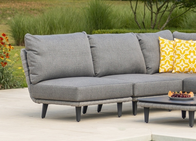 Alexander Rose Cordial Luxe Light Grey Mid Module with Cushion