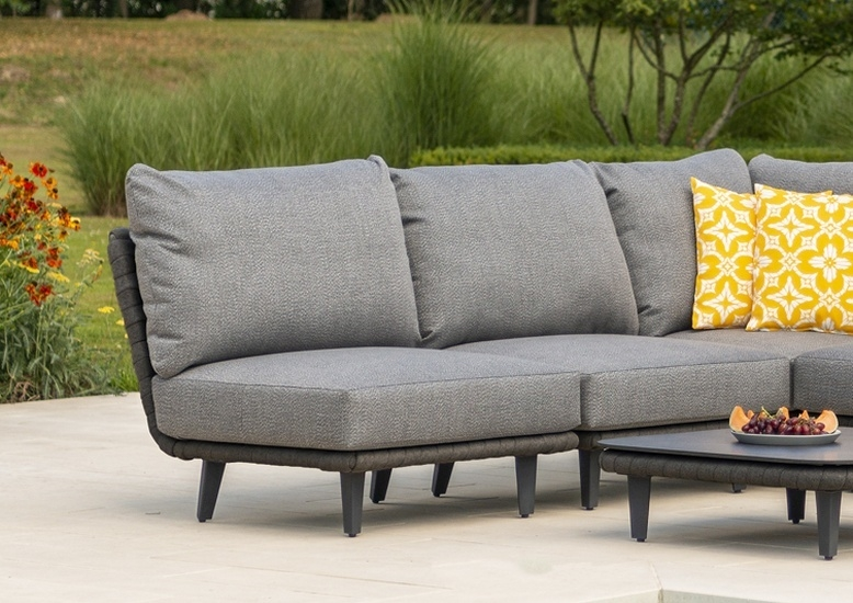 Alexander Rose Cordial Luxe Dark Grey Mid Module with Cushion