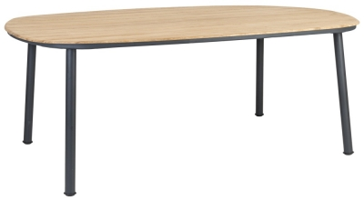 Alexander Rose Cordial Grey 200cm Dining Table with Roble Top