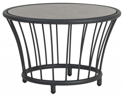Alexander Rose Cordial Grey Round Side Table with Pebble Hpl Top