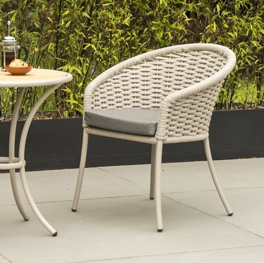 Alexander Rose Cordial Beige Rope Dining Armchair with Cushion (Pair)