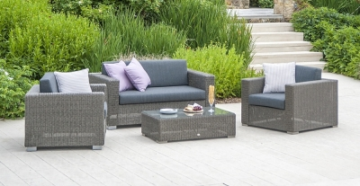 Alexander Rose Monte Carlo 2+1+1 Seater Sofa Set with Coffee Table