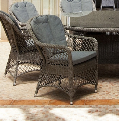 Alexander Rose Monte Carlo Open Weave Dining Chair (Pair)