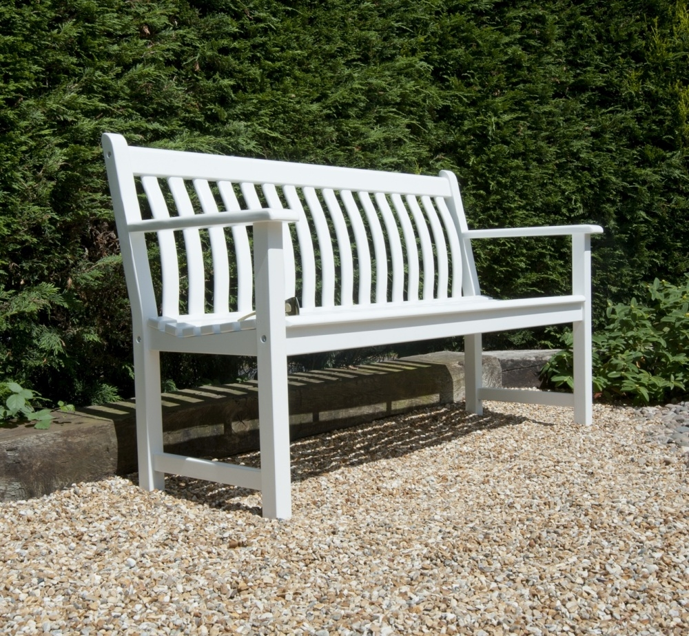 Alexander Rose New England White Painted Broadfield Bench 5ft