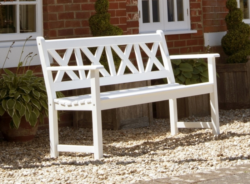 Alexander Rose New England White Painted Drachmann Bench 5ft