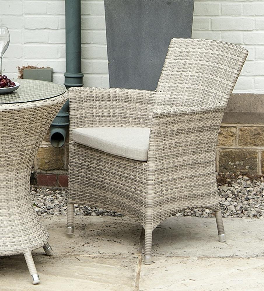 Alexander Rose Ocean Pearl Wave Armchair with Cushion (Pair)