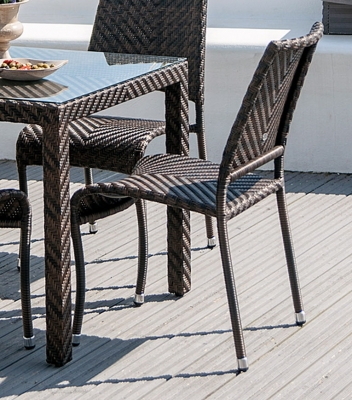 Alexander Rose Ocean Fiji Stacking Dining Chair (Pair)
