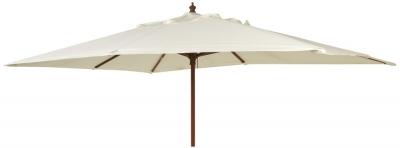 Alexander Rose Hardwood Ecru 300cm Rectangular Parasol